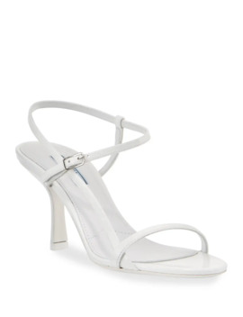 75mm Strappy Patent Leather Sandals by Prada
