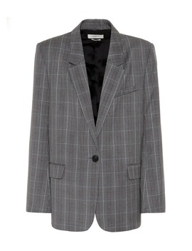 Verix Checked Wool Blazer by Isabel Marant, Étoile