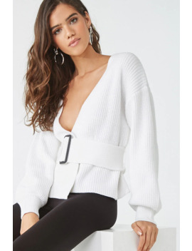 Belted Ribbed Cardigan by Forever 21