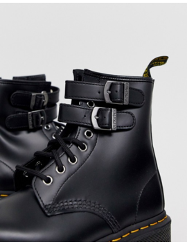 Dr Martens 1460 Alternative Buckle Chunky Leather Boot In Black by Dr Martens'