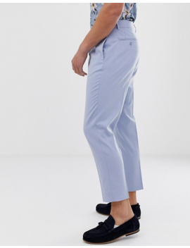 Asos Design Tapered Crop Smart Pants In Baby Blue by Asos Design