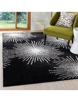 Hodges Hand Tufted Wool Black Area Rug by Wrought Studio