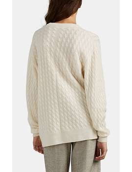 Cable Knit Cashmere Silk Sweater by The Row