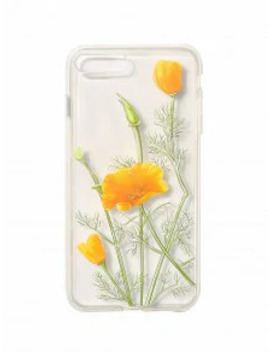Plant Flower Phone Case For Iphone   Bright Yellow 7p/8p by Zaful