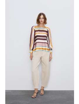 Striped Blouse With Voluminous Sleeves  Shirts Shirts by Zara