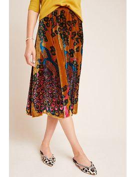Vivian Velvet A Line Midi Skirt by Mes Demoiselles