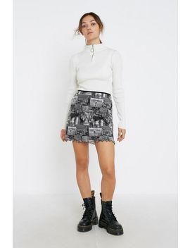 Uo '90s Print Mesh Mini Skirt by Urban Outfitters
