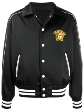Embroidered Tiger Bomber Jacket by Versace