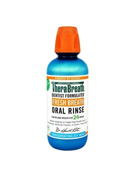 Thera Breath Icy Mint Fresh Breath Oral Rinse   16oz by 16oz