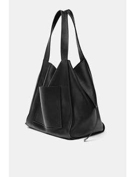 Leather Shopper View All Bags Woman by Zara