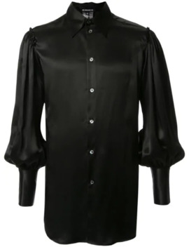 Balloon Sleeved Silk Shirt by Ann Demeulemeester