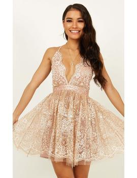 Drop Of Magic Dress In Rose Gold by Showpo Fashion