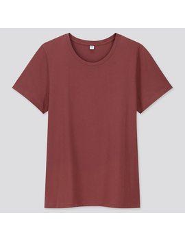 Camiseta AlgodÓn Supima Cuello Redondo Manga Corta Mujer by Uniqlo
