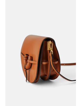 Medium Leather Crossbody Bag With Flap View All Bags Woman by Zara