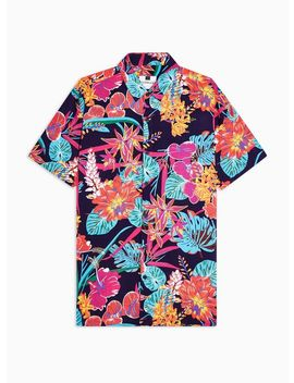 Bright Floral Print Slim Shirt by Topman