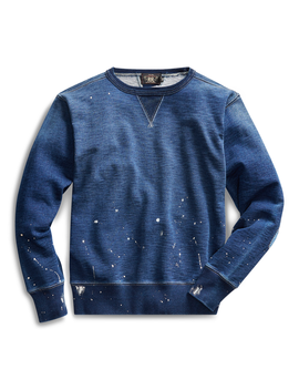 Distressed Terry Sweatshirt by Ralph Lauren
