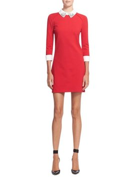 Red Eelah Embellished Collar Tunic  Casual Dress by Ted Baker