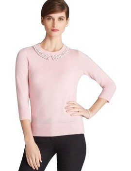Avaline Embellished Pink Sweater by Kate Spade