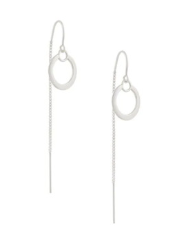 Double Circle Thread Through Earrings by Petite Grand
