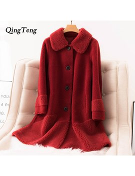30 Woolen Faux Fur Teddy Coat Long Winter Luxury Clothes Women Wool Russian Autumn Casual Teddy Jacket Fluffy Warm Design Coat by Ali Express.Com