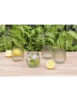 Better Homes & Gardens Leggero Bubble Stemless Plastic Wine Glass, Green, Set Of 4 by Better Homes & Gardens