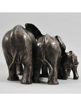 <Span><Span>Elephant Family Cold Cast Bronze Sculpture / Figurine.By Beauchamp Bronze</Span></Span> by Ebay Seller