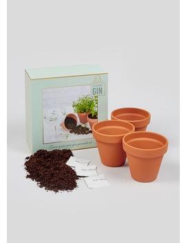 Grow Your Own Gin Garnish Kit (20cm X 19cm X 10cm) by Matalan