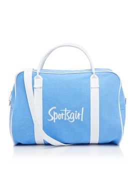 Violet Blue Embroidered Duffle Bag by Sportsgirl