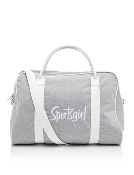 Grey Marle Embroidered Duffle Bag by Sportsgirl