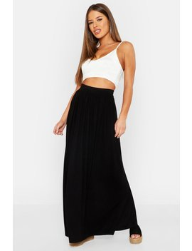 Petite Floor Sweeping Jersey Maxi Skirt by Boohoo