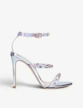 Rosalind Leather And Vinyl Sandals 100mm by Sophia Webster
