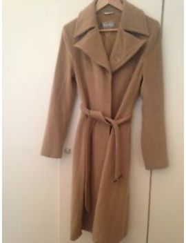 Gorgeous Max Mara Women's Camel Brown Virgin Wool Single Breasted Coat Size 10 by Ebay Seller