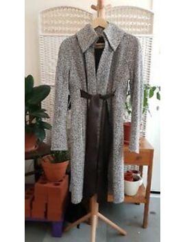 Vintage Max Mara Sportmax Cashmere Silk Lined Herringbone Tweed Coat Eu40 Uk8 by Ebay Seller