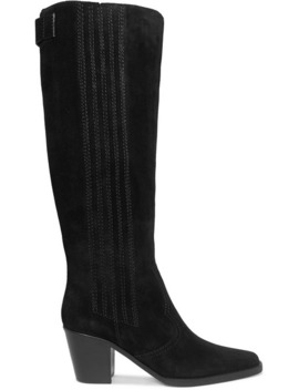 Western Suede Knee Boots by Ganni