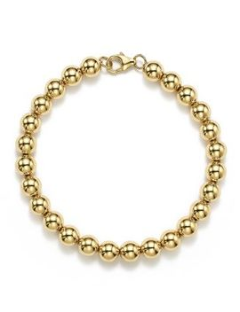 14 K Yellow Gold Beaded Bracelet   100% Exclusive by Bloomingdale's