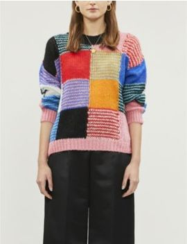 Sana Patchwork Panels Mohair Blend Jumper by Stine Goya