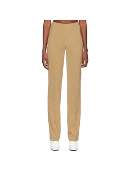 Beige Lissi Trousers by Saks Potts