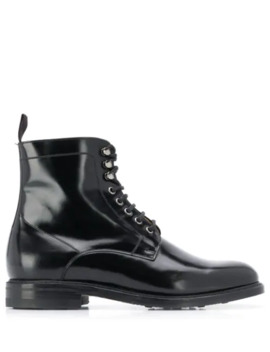 Classic Lace Up Boots by Berwick Shoes