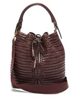 The Neeson Whipstitched Leather Bucket Bag by Anya Hindmarch