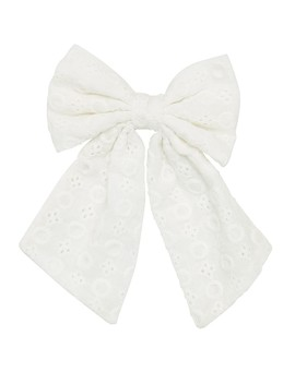 White Broidery Bow by Sportsgirl
