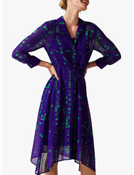 Phase Eight Bailey Print Shirt Dress, Purple/Multi by Phase Eight