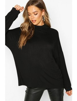 High Neck Oversized Top by Boohoo