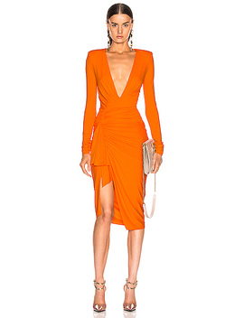 Jersey Ruched Mini Dress by Alexandre Vauthier