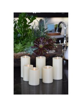 Led Real Wax Unscented Flameless Candle by The Holiday Aisle