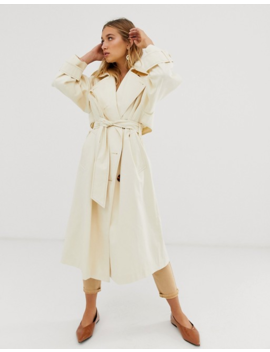 Asos Design   Trench Coat Long Avec Boutons Tendance by Asos Design