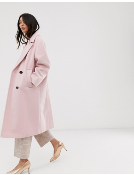 Asos Design   Manteau Classique à Grands Boutons   Rose by Asos Design