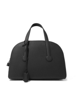 Sporty Bowler 12 Textured Leather Tote by The Row