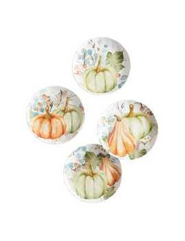 Watercolor Pumpkin Salad Plate Set by Pier1 Imports