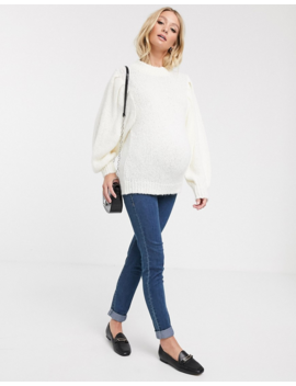 Asos Design Maternity – Tröja Med Vida ärmar I Fluffigt Garn by Asos Design
