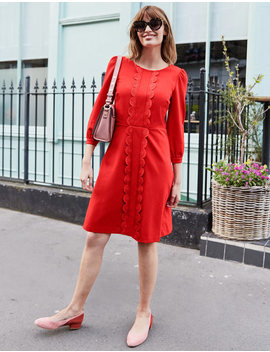 Alexandra Ponte Dress   Post Box Red by Boden
